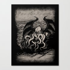 The Rise of Great Cthulhu Canvas Print
