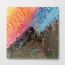 The Colors Of the Mountains We Climb Metal Print