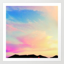 pink pearly sunset Art Print