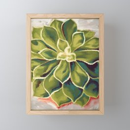 Renewed, Echeveria Succulent Plant Painting Framed Mini Art Print