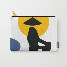 Black Shadow of Woman Carry-All Pouch