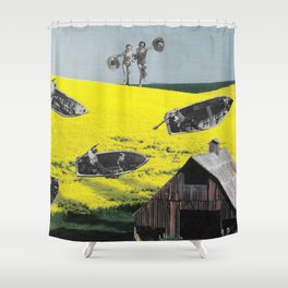 The big jump Shower Curtain