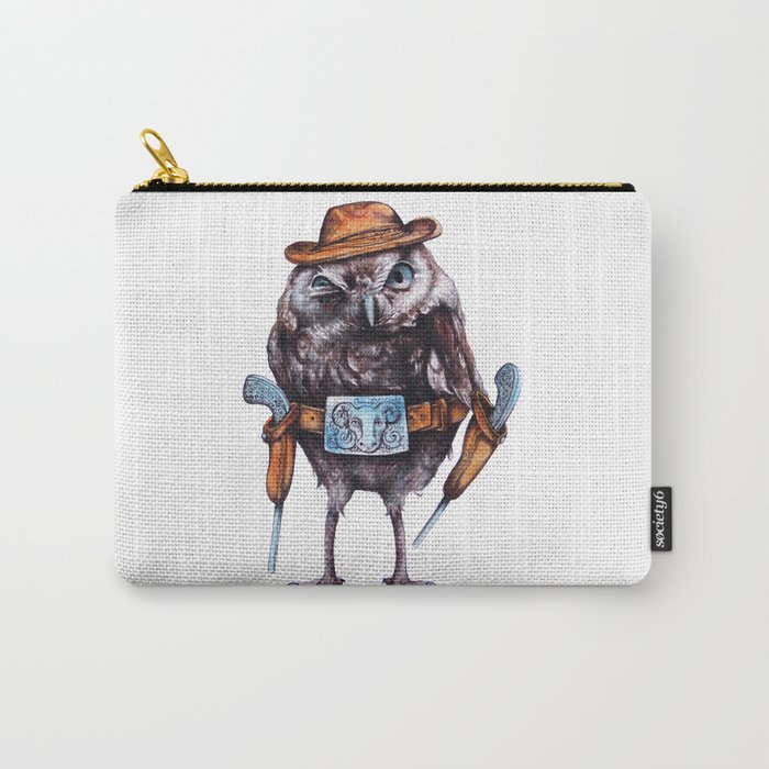 cowboy owl Carry-All Pouch