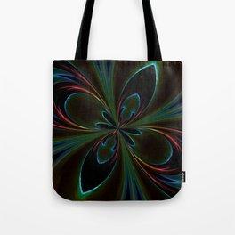 Neon Rainbow Digital Art Tote Bag