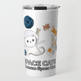 Space Cats - Spaceship Galaxy Satellite Kitten Travel Mug