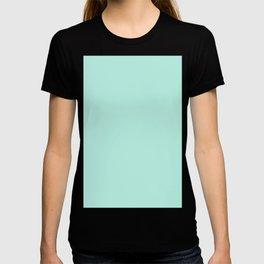 Florida Aqua Solid Color Block T-shirt
