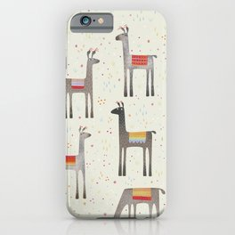 Llamas in the Meadow iPhone Case