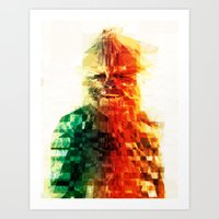 chewbacca Art Prints featuring Chewbacca by Tom Johnson