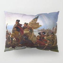 Washington Crossing the Delaware by Emanuel Leutze (1851) Pillow Sham