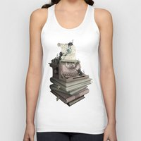bookworm Tank Tops featuring Bookworm by BlancaJP