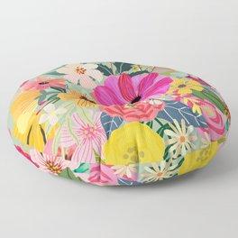 No rain, no flowers Floor Pillow