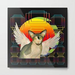 Sphynx Angel by Sunset Metal Print