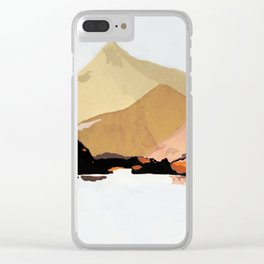 mountains abstract 2 Clear iPhone Case