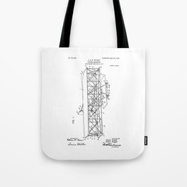 Wright Brothers Patent: Flying Machine Tote Bag