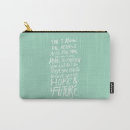 Jeremiah 29: 11 x Mint Carry-All Pouch