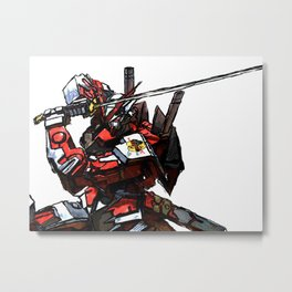 Red Astray Metal Print