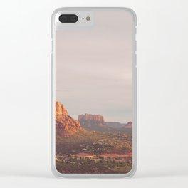 Sedona Arizona print. Vortex No. 3 Clear iPhone Case