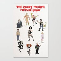 rocky horror picture show Canvas Prints featuring Rocky Horror Picture Show Watercolor  by Ali Lavoie
