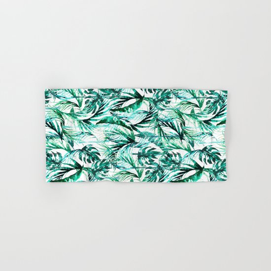 Green Tropical paradise  Hand & Bath Towel