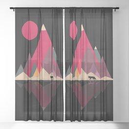 Fox Lands Nature Geometric Sun Sheer Curtain