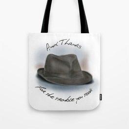 Hat for Leonard Cohen Tote Bag
