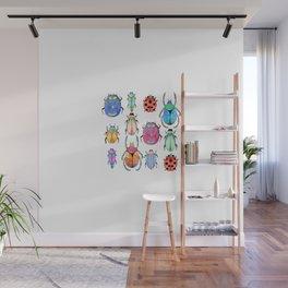 White insect pattern | Entomology shirt Wall Mural