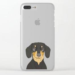 Dachshund Puppy Clear iPhone Case