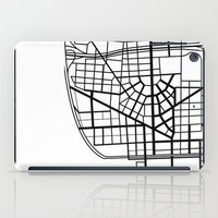 detroit iPad Cases featuring Detroit Streets by AnnieK