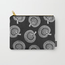 Black Wild Mushrooms all over Carry-All Pouch