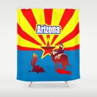arizona Shower Curtains featuring Arizona by Anfelmo