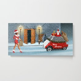 Santa Claus has got help Metal Print