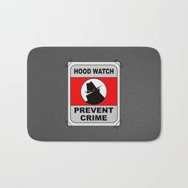 Hood Watch Prevent Crime Bath Mat