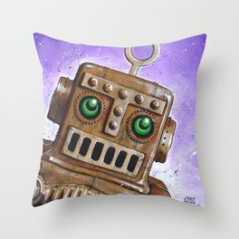 i.Friend: Steam Punk Robot Throw Pillow