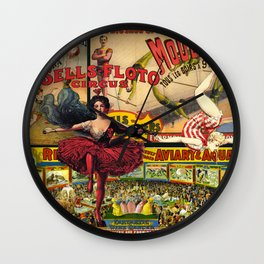 The Circus is in Town Wall Clock