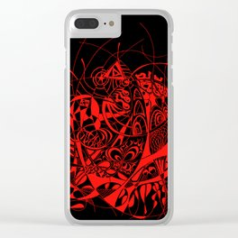 Filanes-45 deep red Clear iPhone Case