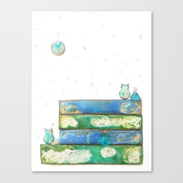 Alley Cats and the Blue Moon Canvas Print