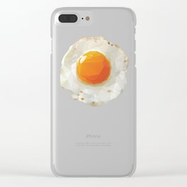 Fried Egg Polygon Art Clear iPhone Case