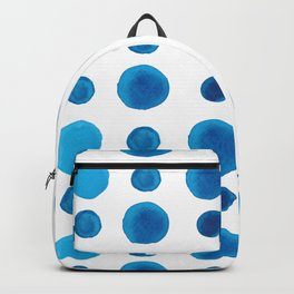 Watercolor blue dots Backpack