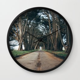 Cypress Tree Tunnel Portrait Wall Clock