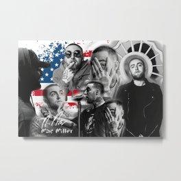 Mac Miller Rap Static Mixer Art Print Metal Print