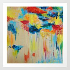 VANCOUVER RAIN - Stunning Rainbow Colorful Bold bright Rain Clouds Stormy Day Wow Abstract Painting Art Print