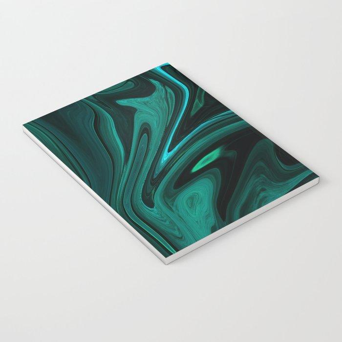 Teal Liquefy Pattern Notebook