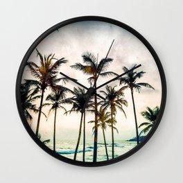 No Palm Trees Wall Clock