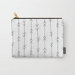 Grey, Steel: Arrows Pattern Carry-All Pouch