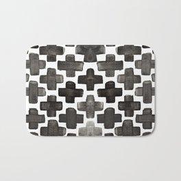 Black & White Crosses - Katrina Niswander Bath Mat