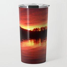 lake sunset Travel Mug