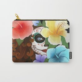 Day of the Hibiscus Carry-All Pouch
