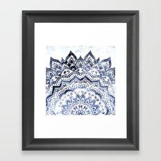 BLUE ORION JEWEL MANDALA Framed Art Print