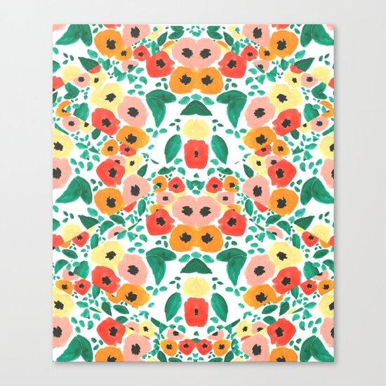 Floral Kaleidoscope  Canvas Print