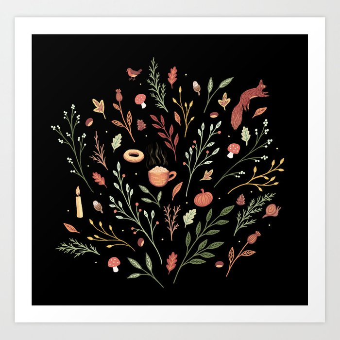 Autumn Days Art Print
